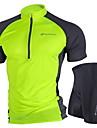 NUCKILY® Cykeltröja med shorts Dam / Unisex Kort ärm CykelAndningsfunktion / Vindtät / Anatomisk design / Ultraviolet Resistant /