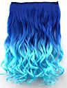 populära nya stil dubbel färg lockigt syntetiskt hår extention