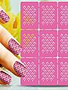 1 Autocollant d\'art de clou Manucure Pochoir Bijoux pour ongles Bande dessinee Adorable Maquillage cosmetique Nail Art Design