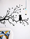 Wall Stickers Wall Decals Style Cat on A Branch PVC Wall Stickers