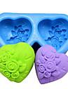 în formă de inimă trandafir fondantă mucegai tort de ciocolată silicon
