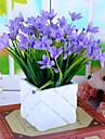 1 Une succursale Soie Plastique Orchidees Fleur de Table Fleurs artificielles 33CM