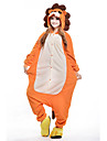 kigurumi Pyjamas New Cosplay® Lion Collant/Combinaison Fete / Celebration Pyjamas Animale Halloween Orange Mosaique Polaire Kigurumi Pour