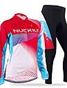 NUCKILY® Maillot et Cuissard Long de Cyclisme Femme / Homme Manches longues VeloRespirable / Garder au chaud / Pare-vent / Design