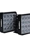 """kawell® Pack 2 48w carre 4.3 """"30 degres conduit pour atv / jeep / bateau / suv / camion / voiture / atvs"""