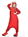 Kigurumi Pyjamas nya Cosplay® / Sesam Leotard/Onesie Halloween Animal Sovplagg Röd Lappverk Polar Fleece Kigurumi UnisexHalloween / Jul /