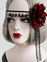 Lolita Accessoarer Gotisk Lolita Punk Lolita Huvudbonad Mask Sexig Elegant Röd Svart lolita tillbehör Vintage För Dam
