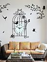 Nouveaute / Autres Moderne/Contemporain Horloge murale,Fleurs / Botaniques / Animaux / Paysage / Mariage / Famille Verre / Metal62cm x