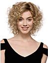 Femme Perruque Synthetique Sans bonnet Court Frises Blonde Perruque Halloween Perruque de carnaval Perruque Deguisement