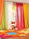Deux Panneaux Le traitement de fenetre Moderne , Solide Salle de sejour Polyester Materiel Sheer Rideaux Shades Decoration d\'interieurFor