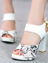 נעלי נשים-סנדלים / בלרינה\עקבים-דמוי עור-עקבים / נעלים עם פתח קדמי / פלטפורמה-שחור / כחול / ירוק / אדום-שטח / שמלה / קז\'ואל-עקב עבה