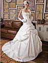 Lanting Bride® Ballkleid Extraklein / Übergrößen Hochzeitskleid - Klassisch & Zeitlos / Elegant & LuxuriösHochzeitskleider mit Schal /