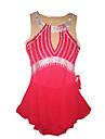 Robe de Patinage Femme Sans manche Patinage Robes Robe de patinage artistique Elasthanne Rouge Tenue de Patinage Utilisation Classique