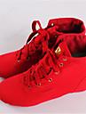 Chaussures de danse(Rouge) -Non Personnalisables-Talon Bas-Cuir-Jazz