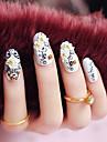 24pcs / set falska naglar falsk nagel färdiga manikyr naglar tips totem blomma