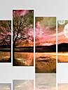 Abstrakt / fantasi / Fritid / Landskap / Arkitektur / Fotografisk / Modern / Romantik Canvastryck Fyra paneler Redo att hänga,Horisontell