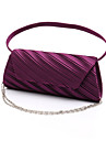 Women Satin Formal / Event/Party / Wedding Evening Bag White / Purple / Gold / Red / Black / Almond