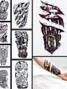 Totemserier Multifärgad Papper tatuering tillförsel komplett pappers tatuering stencil