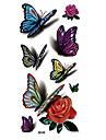 8 Tatueringsklistermärken Djurserier Blomserier Annat Ogiftig Mönster Halloween Stor storlek Hawaiisk Ländrygg Vattentät 3DDam Herr Vuxen
