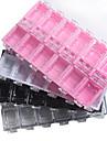 1pcs boite a bijoux en plastique transparent de materiel pc