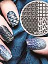 2016 senaste versionen mode mönster nail art stämpling bild mall plattor