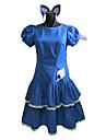 Inspirerad av Fairy Tail Cosplay Animé Cosplay Kostymer/Dräkter cosplay Suits / Klänningar Lappverk Blå Kort ärm Klänning / Headband
