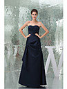 Formal Evening Dress A-line Sweetheart Floor-length Stretch Satin with Side Draping