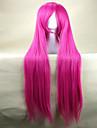 perruques de haute qualite perruque rose cosplay femme super long droites perruques de cheveux synthetiques parti perruques animes