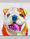 Peint a la main Abstrait / Paysage / Animal / Fantaisie / Paysages AbstraitsModern Un Panneau Toile Peinture a l\'huile Hang-peint For