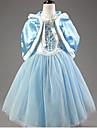 Costumes de Cosplay Costume de Soiree Princesse Conte de Fee Fete / Celebration Deguisement d\'Halloween Rouge Bleu Couleur PleineManteau