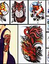 8st skönhet 3d dekal tillfällig tatuering grymhet nio tailed räv klo konstruktion kvinnor män body art vattentät tatuering klistermärke