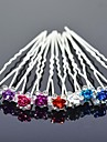The Colorfull  Rose  Hairpin (Set Of 4)