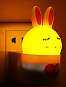 capteur chaud lumiere lapin blanc induction sonore creative relative a la lumiere bebe de nuit de sommeil (couleurs assorties)