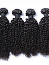 3pcs / lot cheveux bresiliens regroupe les cheveux frises crepus non transformes tisse les cheveux vierges bresiliens tisse