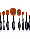 10 ensembles de brosses Poil Synthetique Professionnel Couvrant Plastique Visage OEil Levre MAKE-UP FOR YOU