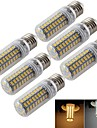 5W E14 / E26/E27 Ampoules Mais LED T 72 SMD 5730 300 lm Blanc Chaud / Blanc Froid Decorative AC 100-240 / AC 110-130 V 6 pieces