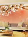 skinande läder effekt stor väggmålning tapeter blommor konstväggdekor för vardagsrummet tv soaf bakgrund