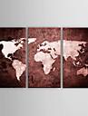 Peint a la main Abstrait / Paysage / Nature morte / Fantaisie / Paysages AbstraitsModern Trois Panneaux ToilePeinture a l\'huile