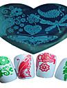 En forme de coeur 1pcs nail art estampage modele papillon belle rose fille de halloween l\'image conception ongles outils art 21-25