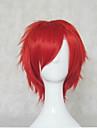 nouvelle arrivee rouges perruques de cheveux synthetiques courtes naturelle perruques cosplay animee perruques de fete d\'perruque frisee