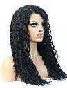 """8-24 """"vierge cheveux humains profondement boucles glueless pleine perruque de dentelle peruvian pour les femmes noires"""