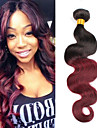 heta försäljning 1bundles brasilianska jungfru hår förkroppsligar vinkar ombre färg obearbetade människohår väver