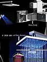 Nutida Badkar och dusch Flush Mount Lights / Regndusch / Handdusch inkluderad with  Keramisk Ventil Enda handtag Två hål for  Krom ,