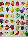 1st harts grönsaker frukt kök kylskåp magnet ark rolig gåva (slumpvis färg)
