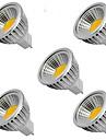 5W GU5.3(MR16) LED-spotlights MR16 1 COB 400LM lm Varmvit / Kallvit DC 12 V 5 st