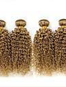 4 delar Lockigt Human Hair vävar Brasilianskt hår Human Hair vävar Lockigt