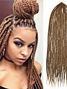 box flätor twist flätor hår förlängningar 24 Kanekalon 80g gram hår flätor brun med gratis virknål