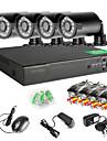 8CH 960H Network DVR  4PCS 1000TVL IR Outdoor CCTV Security Cameras System