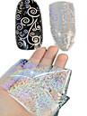 1 Autocollant d\'art de clou Bouts  pour ongles entiers Bijoux pour ongles Bande dessinee Abstrait Adorable Mariage Maquillage cosmetique