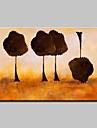 handmålade duk oljemålningar modern abstrakt träd bilder väggdekorationer med sträckt ram redo att hänga